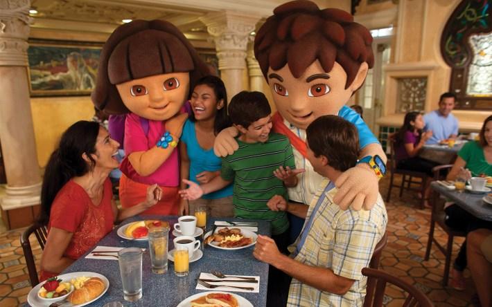 Dora the Explorer and Diego at Universal Orlando Resort