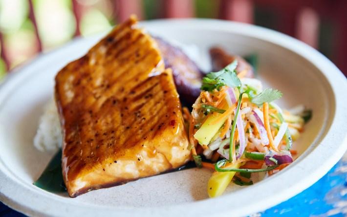 Tamarind Glaze Salmon from Universal's Volcano Bay