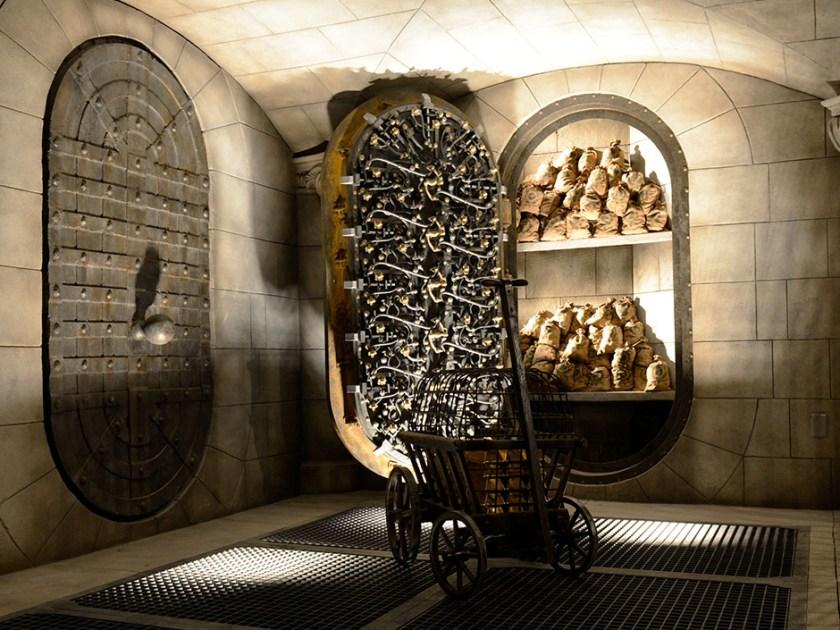 Harry Potter y la cola de escape de Gringotts - Bóvedas
