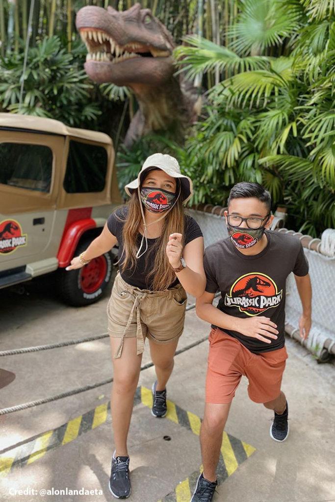Jurassic Park Camouflage Face Coverings - @alonlandaeta