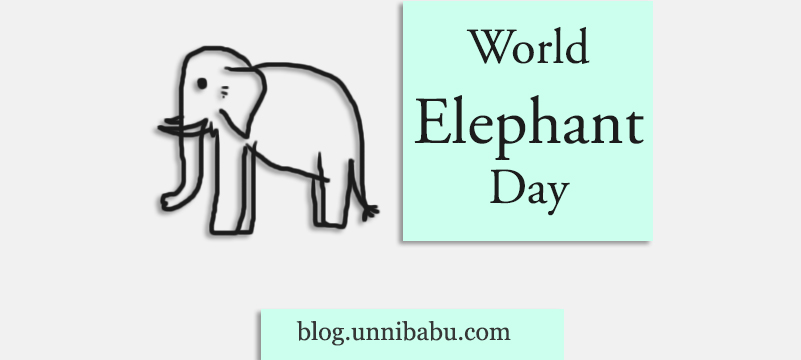 world elephant day drawing art