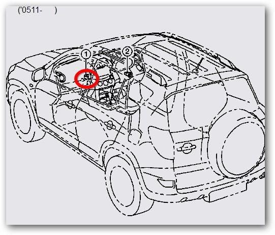 Where the immo box is located on Toyota Rav4 2012 (no