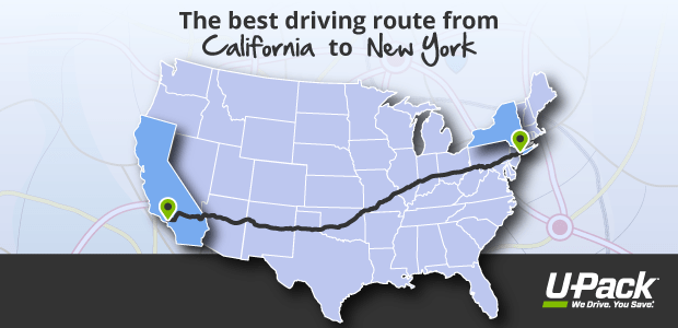 What is the best driving route from California to New York