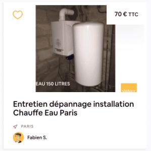 installation chauffe eau paris