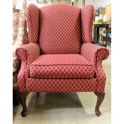 Accent Wingback Chairs Bean Bags Target Consigned Red Chair For Sale Upscale Consignment Rowe