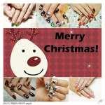 ♥ 跨越世界末日。光療指甲聖誕節重生版