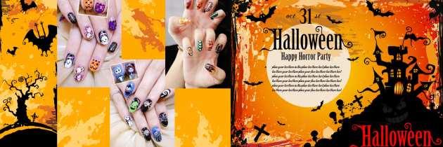 ♥ 不給糖就搗蛋!Halloween萬聖節凝膠指甲