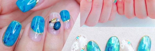 ♥ 綠松石的魅力!點亮指甲的神秘魔法石