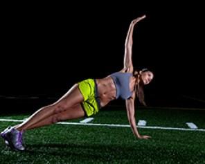 planche latéral athlète