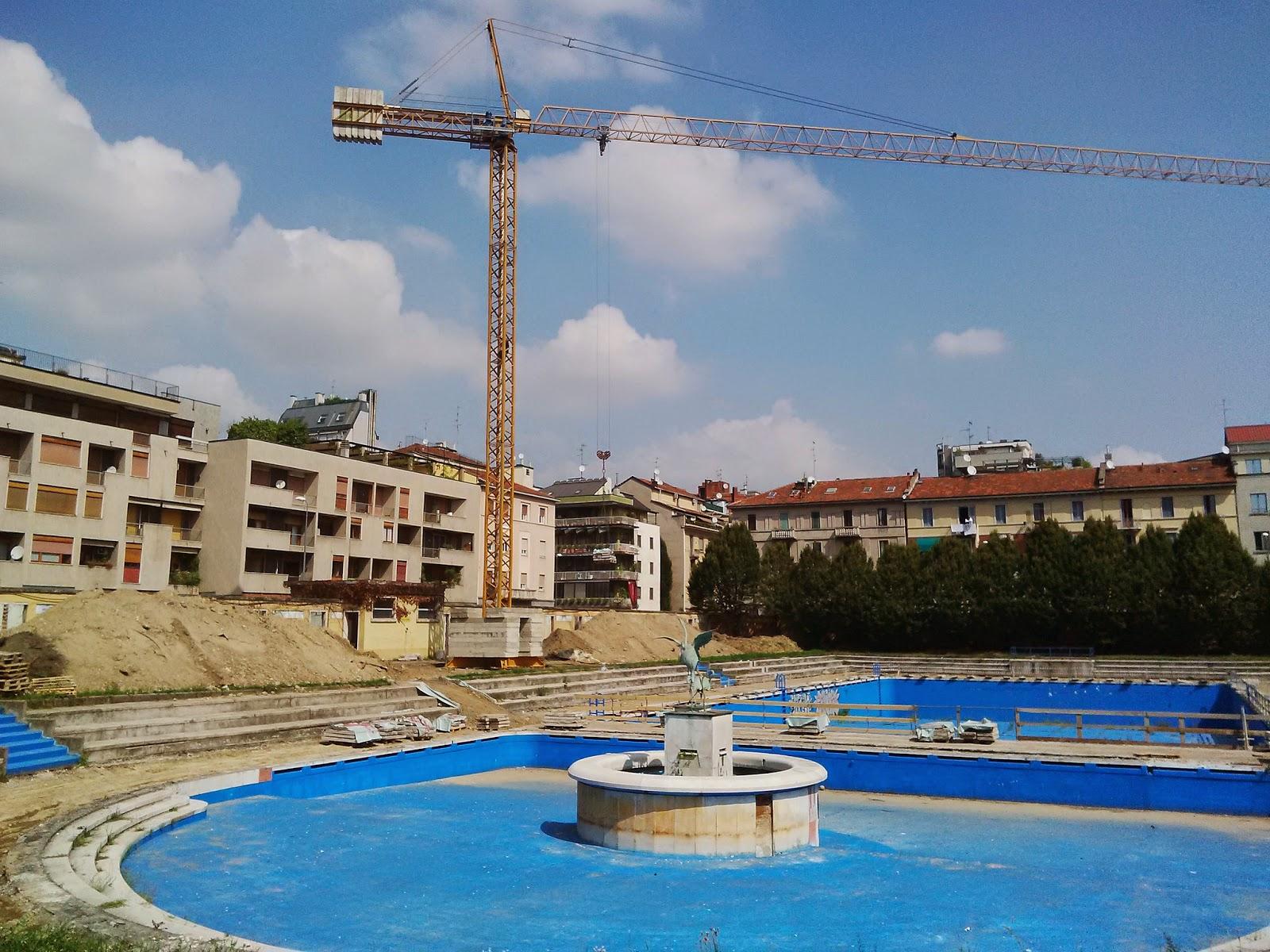 Milano  Porta Romana  Partiti i lavori alla piscina Caimi  Urbanfile Blog