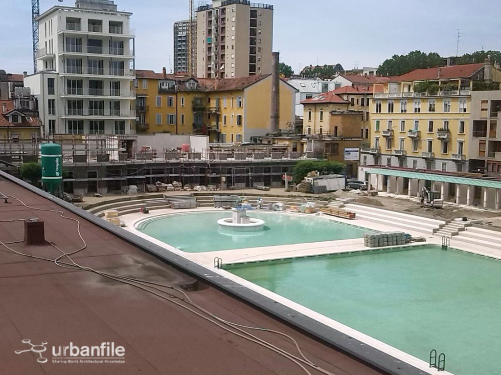 Milano  Porta Romana  Immagini dalla piscina Caimi quasi pronta  Urbanfile Blog