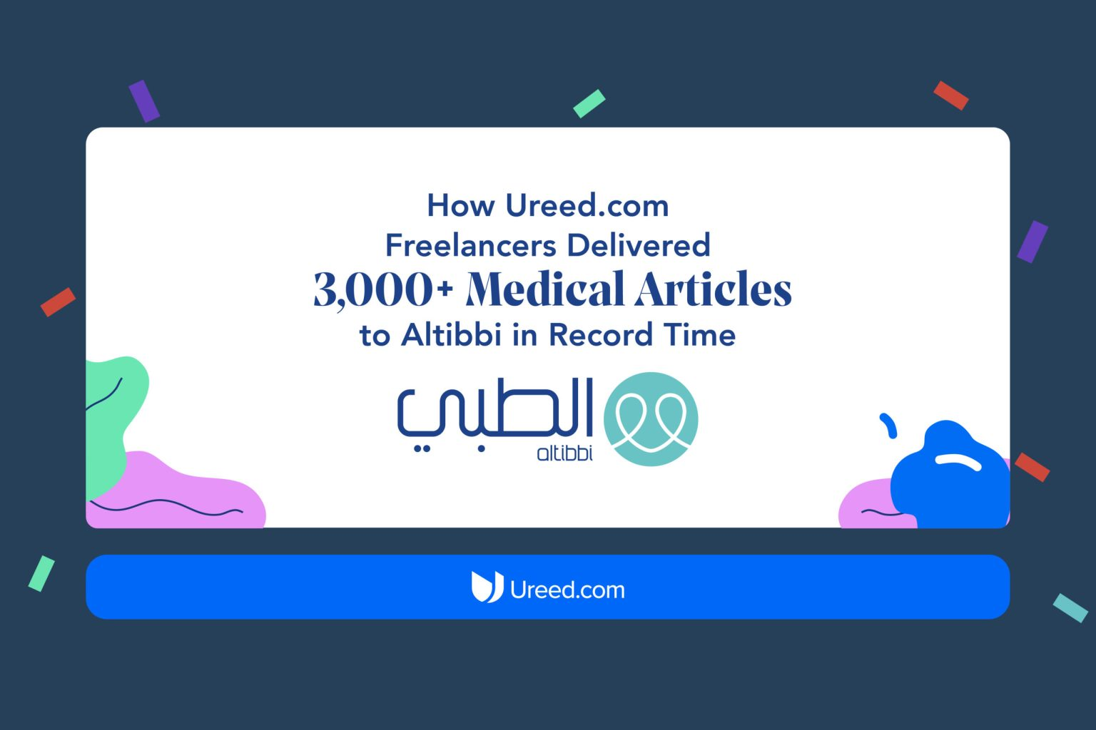 How Ureed.com Freelancers Delivered 3,000+ Medical Articles to Altibbi in Record Time