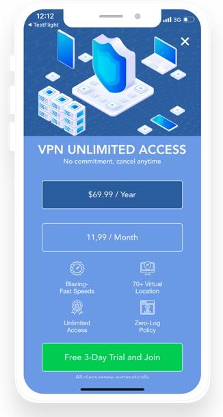 VPN Zone subscription