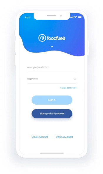 Foodfuels app design 3