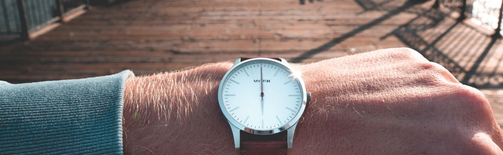 timing. watch on hand. key factor