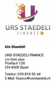 Kontaktinformationen Urs Staedeli Finance