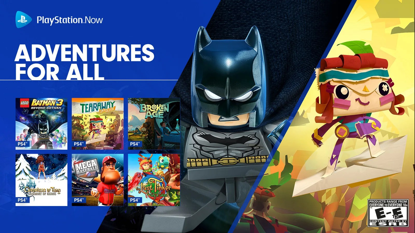 New Ps4 Games On Ps Now Lego Batman 3 Tearaway Unfolded
