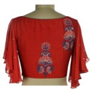 Embroidered Red design Blouse