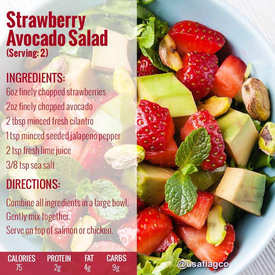 Strawberry Avocado Salad Lunch Recipe
