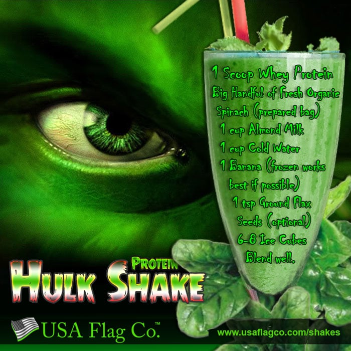 You're making me angry. You wouldn't like me when I'm angry. Unleash your inner Beast with the HULK Protein Shake by USA Flag Co.