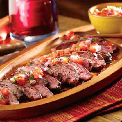 Argentinean Grilled Steak with Salsa Criolla Recipe