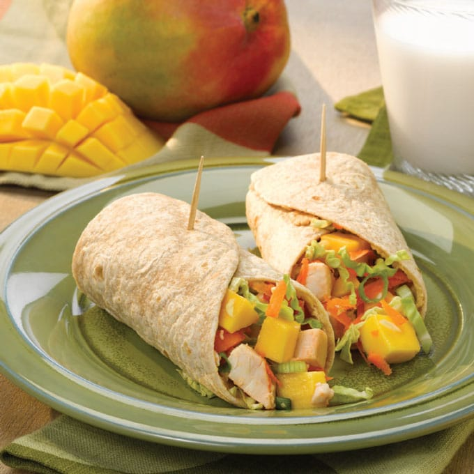 Asian Mango Chicken Wrap Recipe
