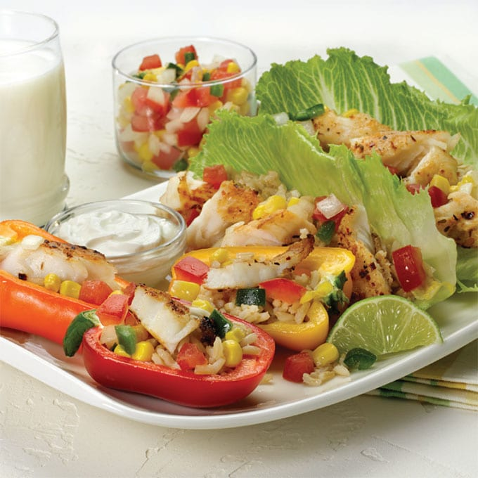 Fiesta Lettuce Wraps and Pepper Boats Recipe