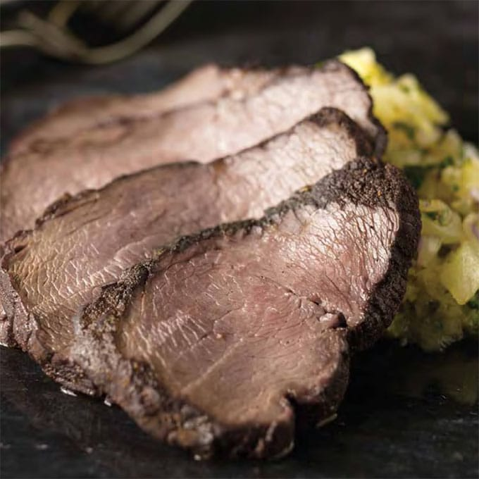 Cocoa Spiced Beef Tenderloin with Pineapple Salsa Recipe