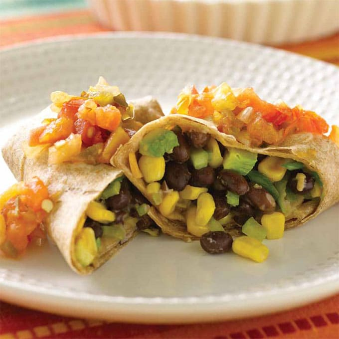 Corn and Black Bean Burrito Recipe