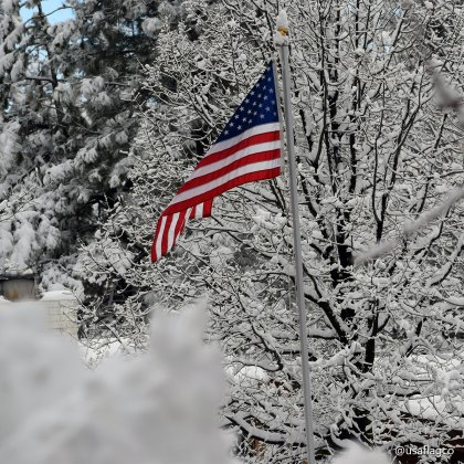 May we think of freedom, not as the right to do as we please, but as the opportunity to do what is right. - Peter Marshall | Winter Pride by USA Flag Co.