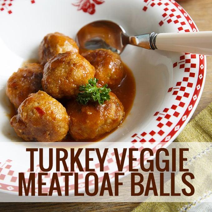 Turkey Veggie Meatloaf Balls Recipe