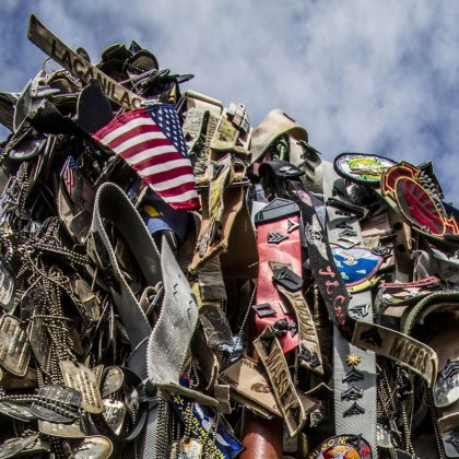 IWO TO, Japan - Personal mementos are left to symbolize the respect generations of service members have paid during their visit to the summit of Mount Suribachi, Iwo Jima, Japan, March 25, 2017. Suribachi is where five Marines and a Navy Corpsman famously raised the American flag, signaling the succesful seizure of the northern end of the island.