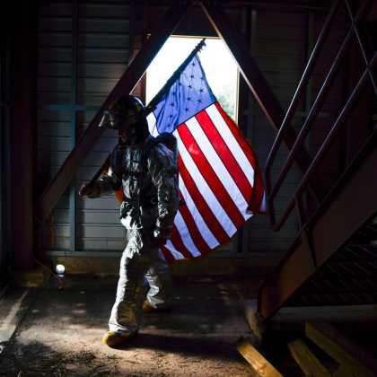 US Flag Tinker Air Force Base