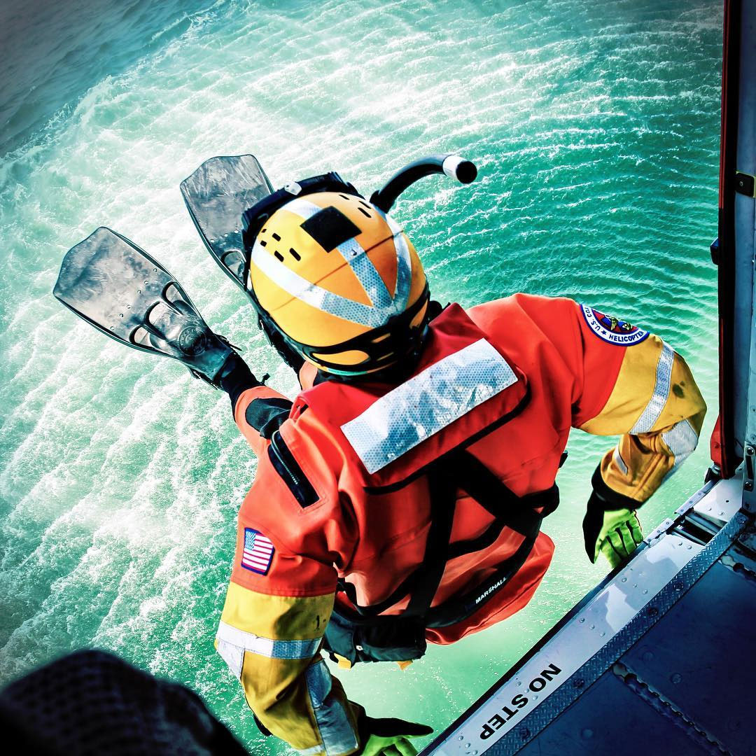 Coast Guard rescue swimmers serve as a go-to asset in the helicopter for rescuing survivors.