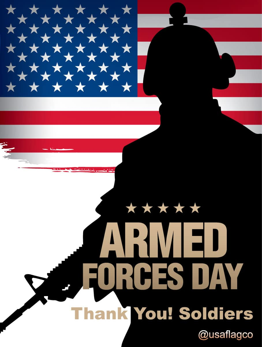 Happy Armed Forces Day from USA Flag Co.