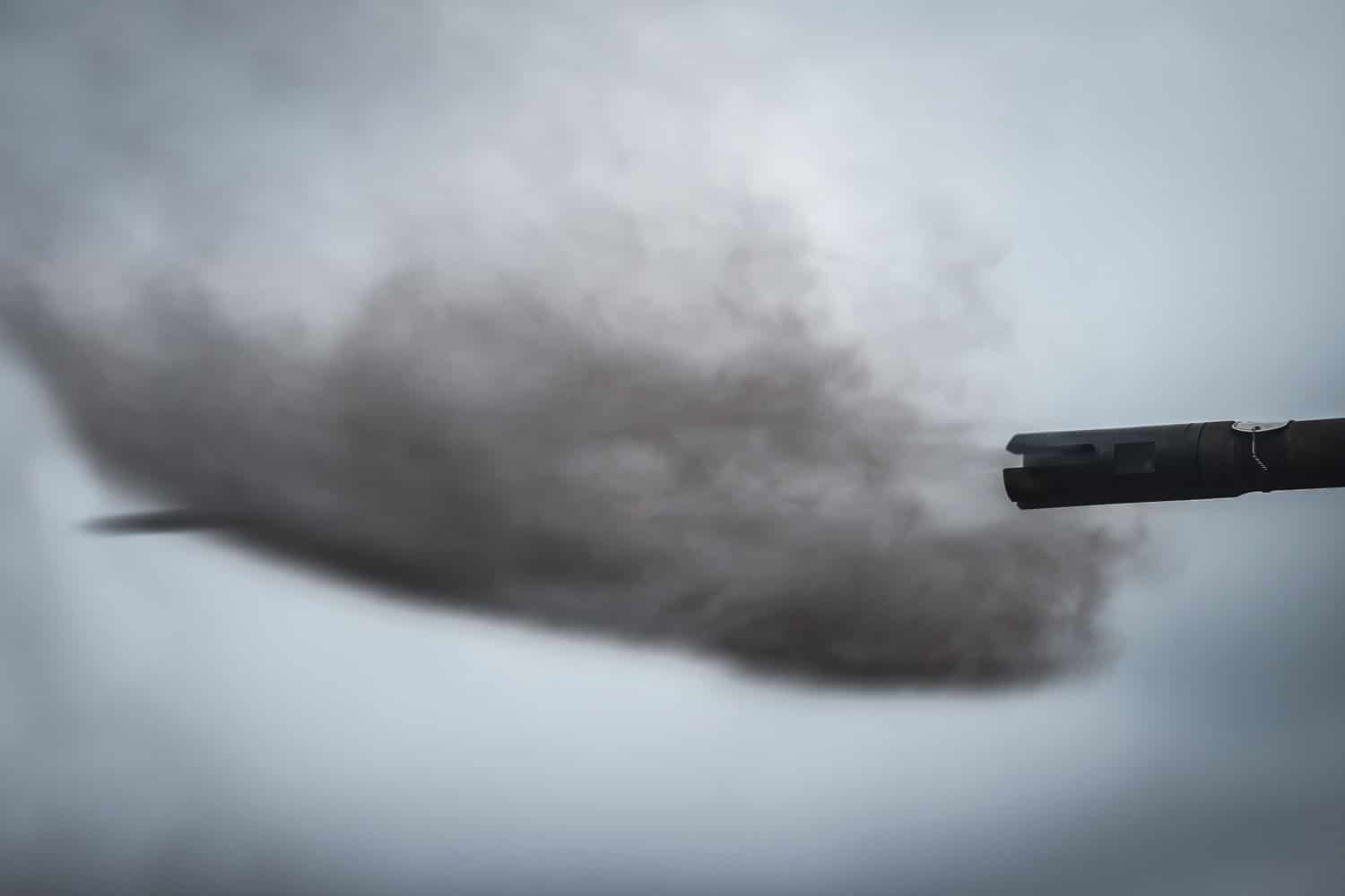 A .50 caliber round ejects from the barrel of an M2 .50 caliber machine gun during Exercise Fuji Viper aboard Camp Fuji, Japan.