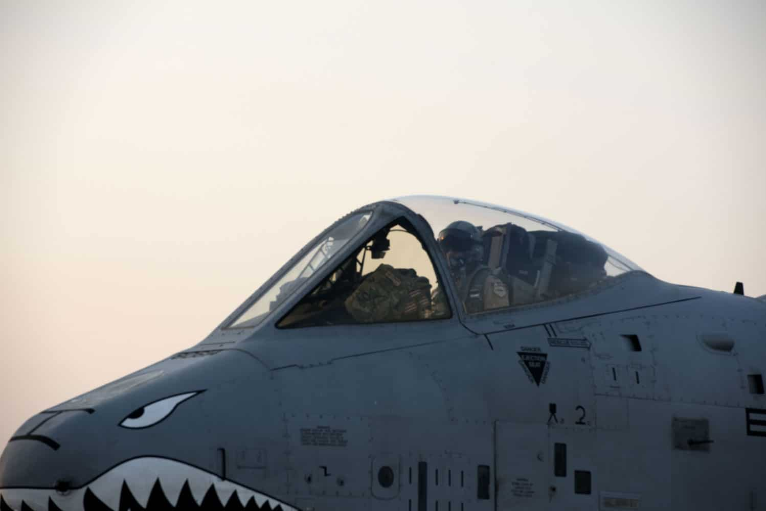 An A-10 Thunderbolt II taxis on the runway at Incirlik Air Base, Turkey. A-10s are specially designed for close air support of ground forces, and can also be used against ground targets including tanks and other armored vehicles.