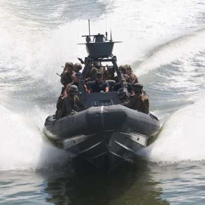 Maritime Raid Force with U.S. Marines Search and Seizure