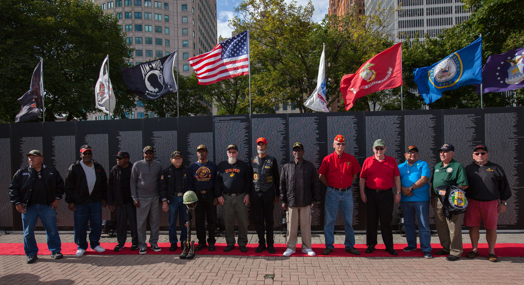 Detroit Vietnam veterans were honored by Marines with Special Purpose Marine Air Ground Task Force (Detroit) as part of Marine Week Detroit.