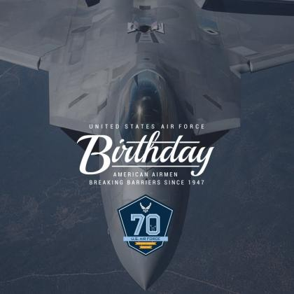70 YEARS OF AIRPOWER & INNOVATION: Since 1947, courageous Airmen have refined the Air Force mission to Fly Fight and Win through their blood and sacrifice, ensuring the unique contributions of Airpower will endure long into the future.
