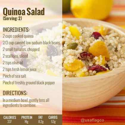 Quinoa Salad Recipe from USA Flag Co.