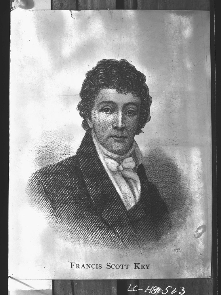 Francis Scott Key was a witness to the last enemy fire to fall on Fort McHenry.