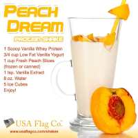 Peaches are delicious in this Peach Dream Protein Shake, desserts, snacks or served directly from the can they can be served chilled or at room temperature.