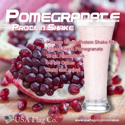 Pomegranate Protein Shake