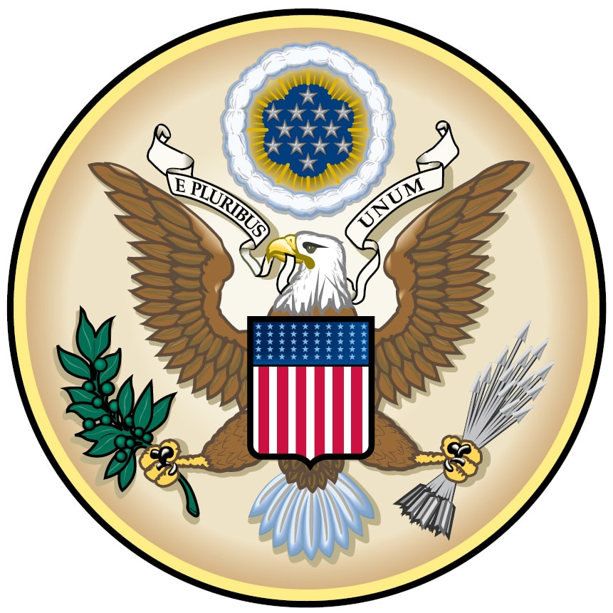 The obverse front of the Great Seal—which is used 2,000 to 3,000 times a year—authenticates the President's signature on numerous official documents such as treaty ratifications, international agreements, appointments of Ambassadors and civil officers, and communications from the President to heads of foreign governments.