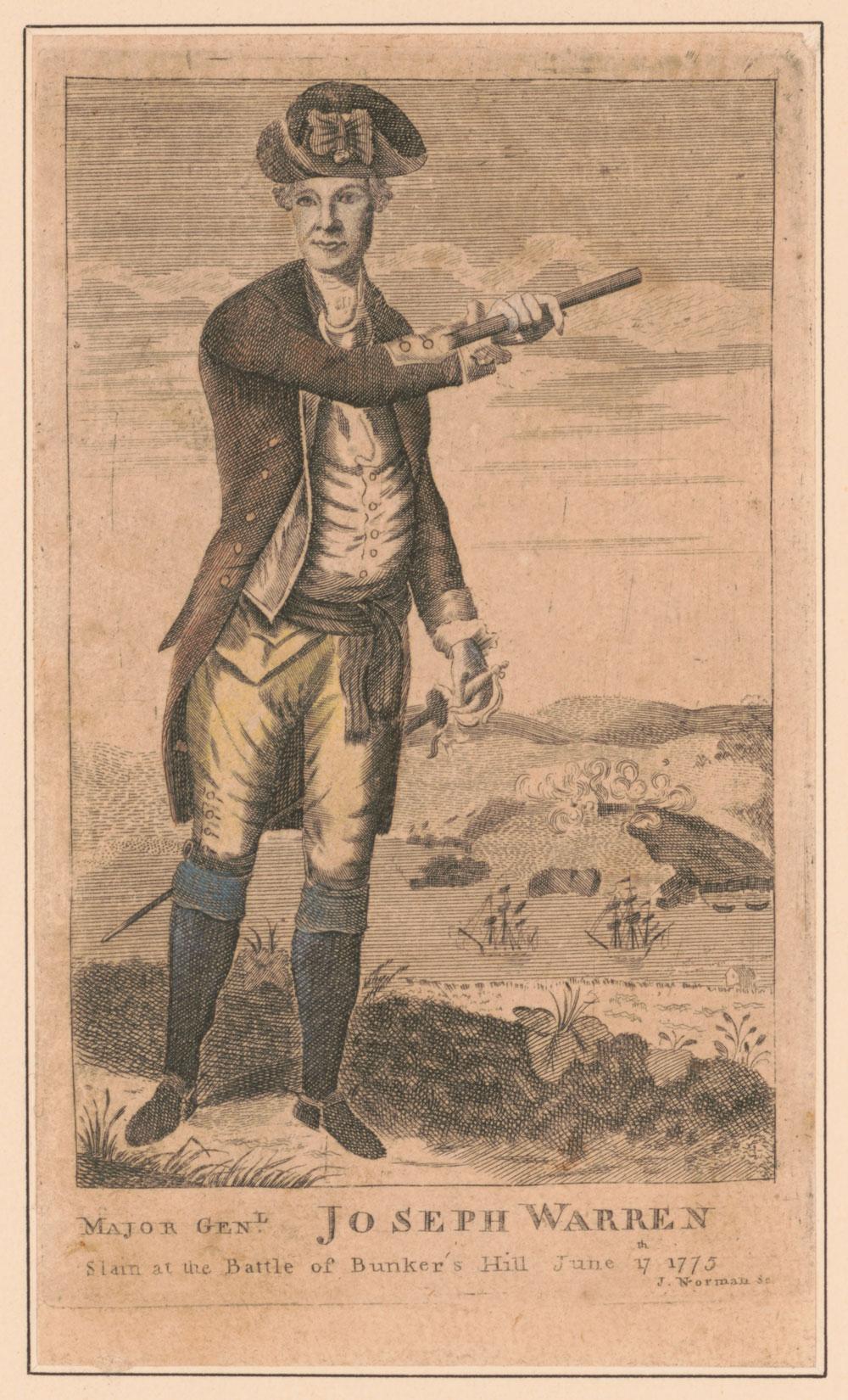 Major-General Joseph Warren - Slain at the Battle of Bunker Hill June, 17th 1775.
