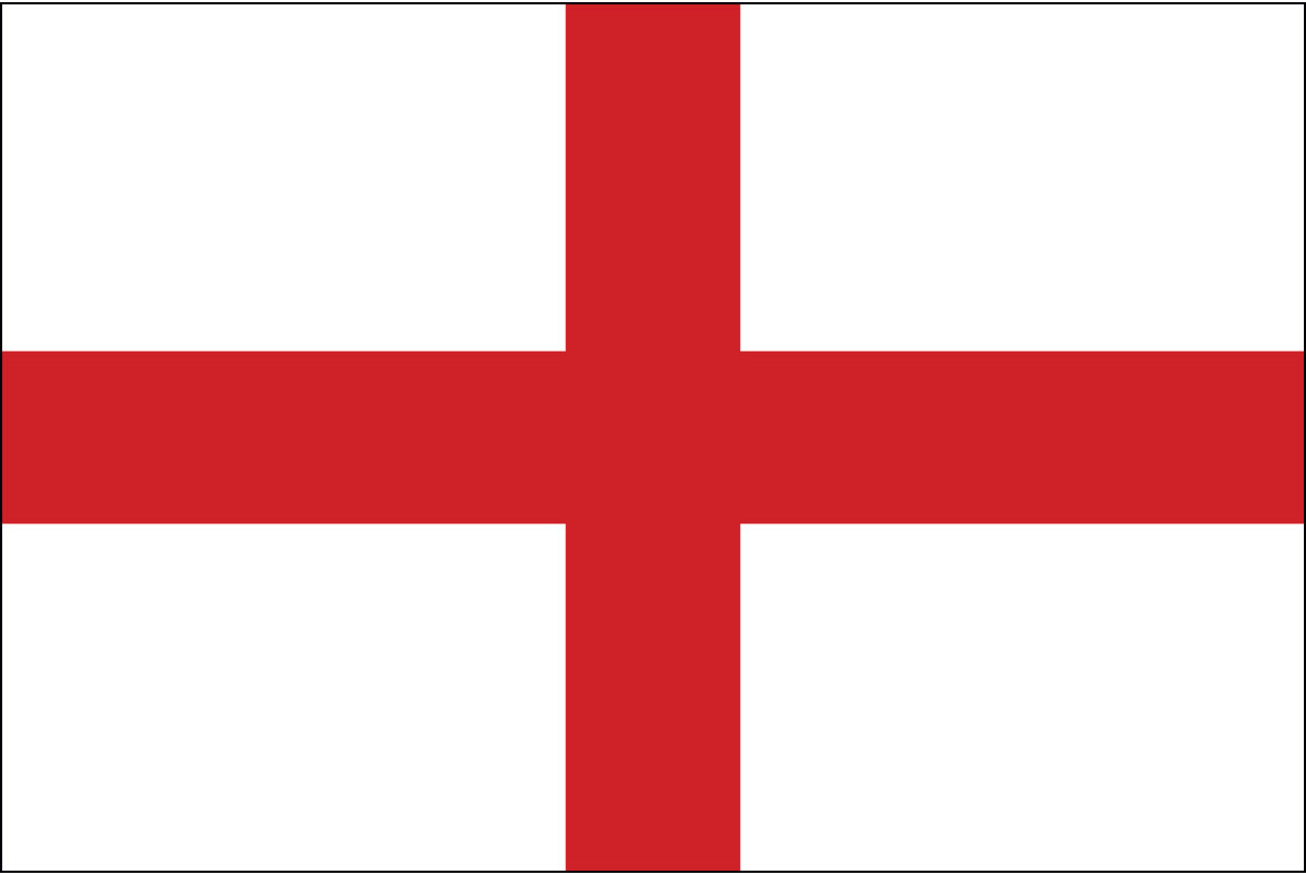 Cross of St George Flag also known as the Flag of England: The royal ensign of Henry VII used by Cabot was the Cross of St George flag, which is a white flag with a rectangular red cross extending its entire length and breadth. The Cross of St. George, according to the records was used in the Massachusetts Bay Colony in 1634, if not before.