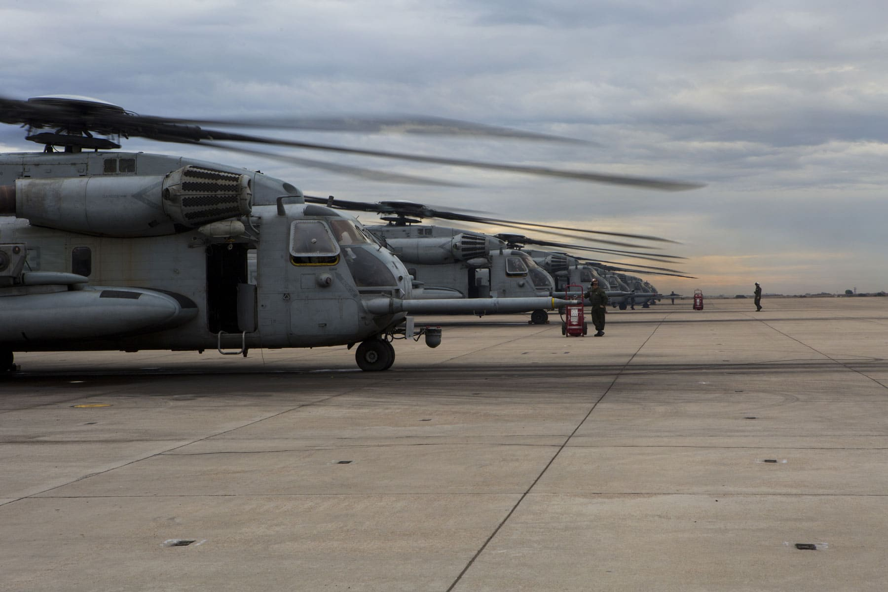 Four aircraft returned to HMH-361, and the other four aircraft attached to Marine Medium Tiltrotor Squadron (VMM) 166 for an upcoming deployment with the 13th Marine Expeditionary Unit.