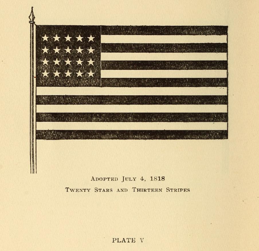 Twenty Stars and Thirteen Stripes Flag