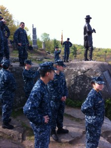 Midshipmen atop Little Round Top